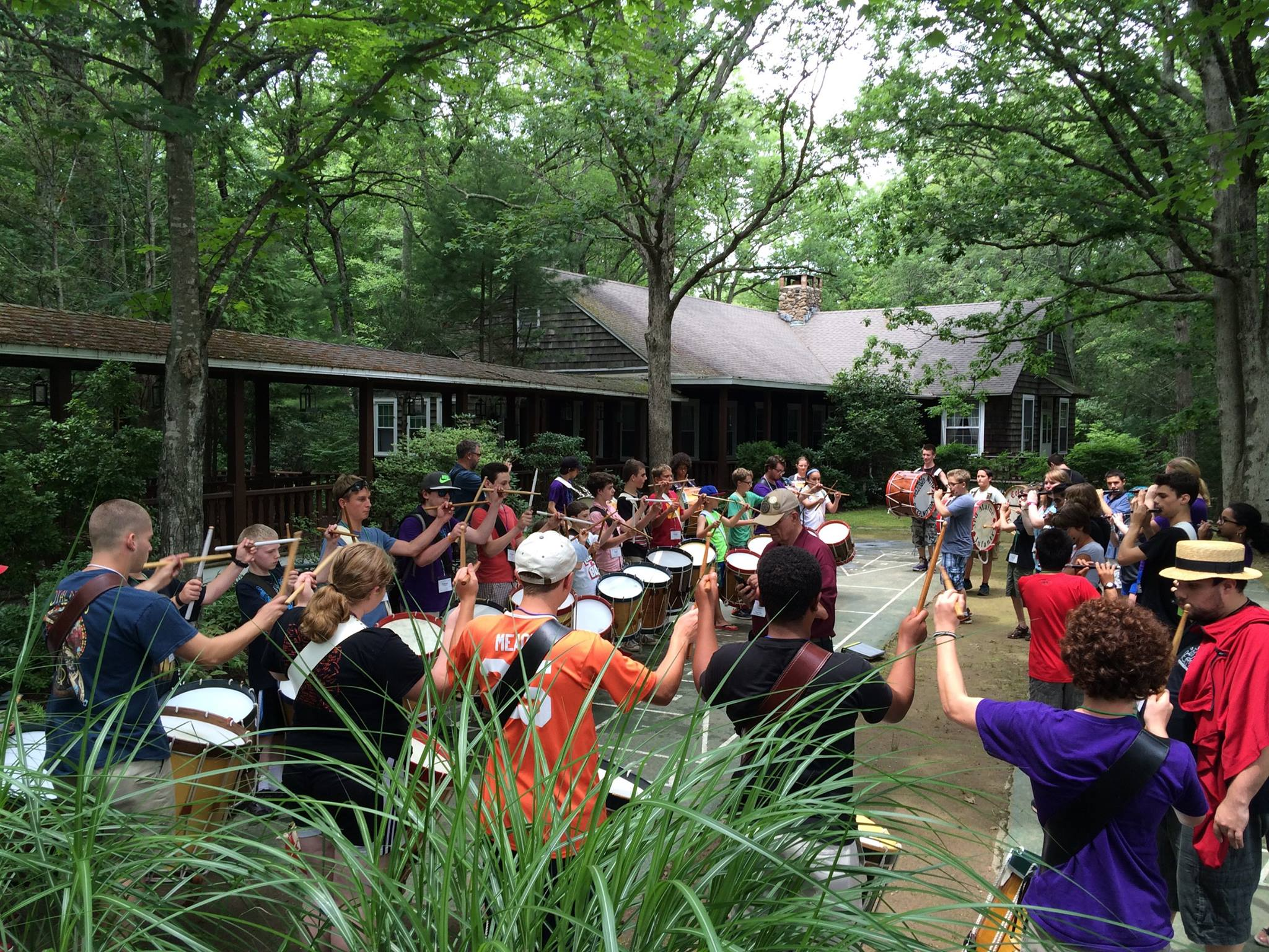 Rehearsing at the Company of Fifers and Drummers Junior Camp