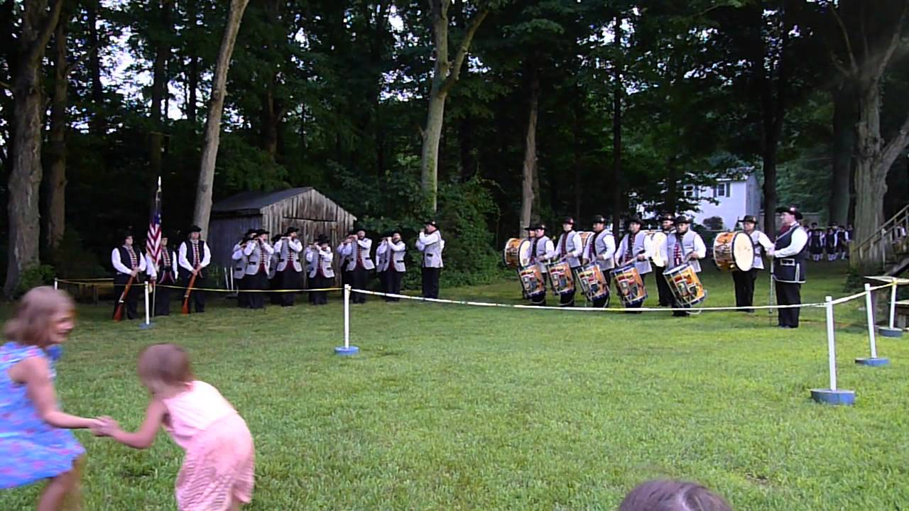 Connecticut Patriots Fife and Drum Corps performs as part of the Summer Concert Series